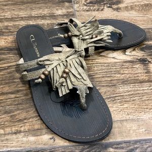 CL by Laundry Fringe Thong Sandal